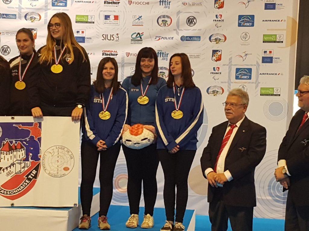 Championnat de France Tarbes 2018 - Médaillées STB
